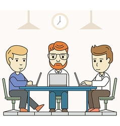 Business meeting in shared working environment vector image vector image
