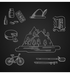 German culture and history icons vector image vector image
