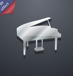 Grand piano icon symbol 3d style trendy modern vector