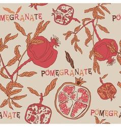 Vintage Pomegranate Pattern Background vector image vector image