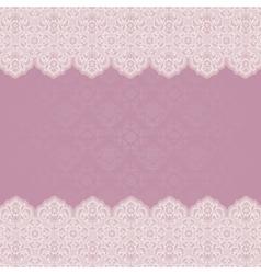 wedding invitation ornament flowers vector image vector image