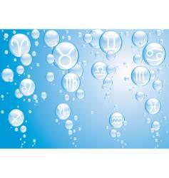 zodiac bubbles blue vector image vector image