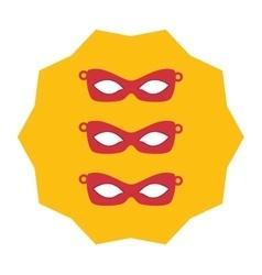 Eyes masks icons vector image