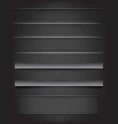 Shadows and Dividers vector image vector image