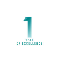 1 year excellence template design vector