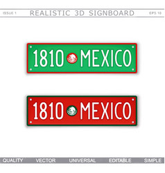 1810 mexico the country founding date vector image