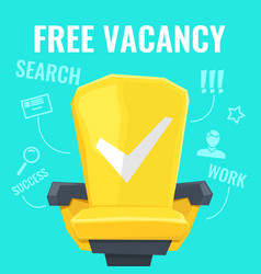 A free vacancy with yellow vector