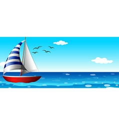 A ship in the ocean vector image