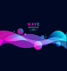 abstract colorful wave on black background vector image