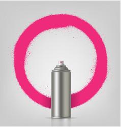 Aerosol spray on grey background with pink frame vector