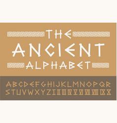 Ancient english creative alphabet old vector