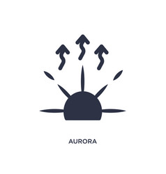 Aurora icon on white background simple element vector