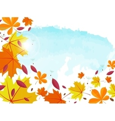 autumn background frame for text decorated vector image
