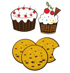 Bakery foods vector