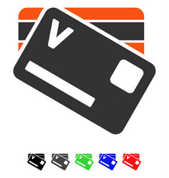 Banking cards flat icon vector