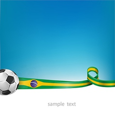 Brazil background with soccer ball vector