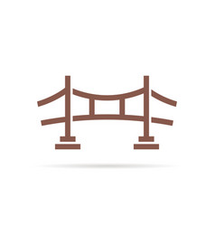 Brown simple bridge logo vector
