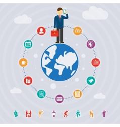 Business around world vector