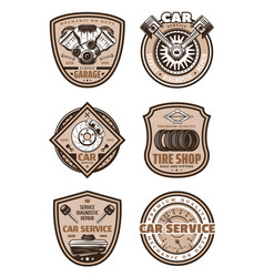 car garage service icons vector image