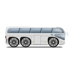Cartoon bus with big wheels vector image