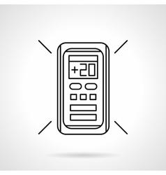 Conditioner remote controller line icon vector image