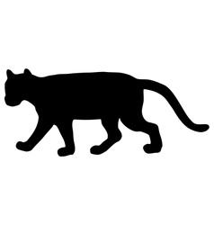 Cougar silhouette vector
