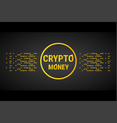 Crypto currency banner golden bitcoin digital web vector
