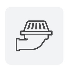deck drainage icon vector image