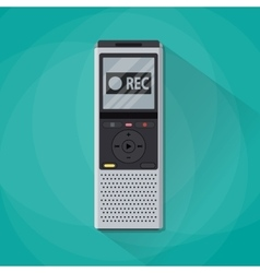 Dictaphone icon flat design style vector image