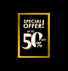Discount special offer up to 50 off label vector