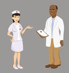 doctor nurse vector image