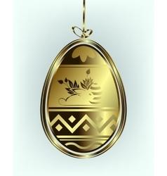 Easter egg pendant vector