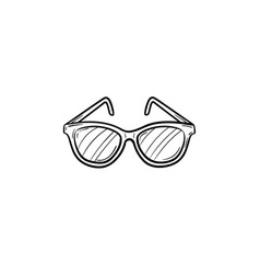 Eyeglasses hand drawn sketch icon vector