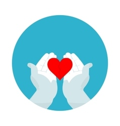 flat icon broken heart vector image vector image