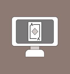 Flat icon design collection ace diamonds screen vector