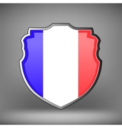 French Shield Isolated vector image