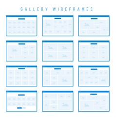 Gallery wireframe components for prototypes vector