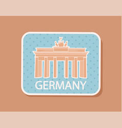 Germany traveling badge magnet isolated vector