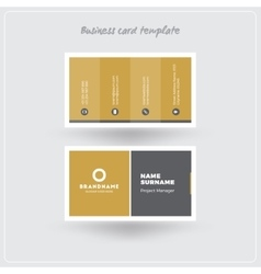 Golden and Gray Business Card Print Template vector
