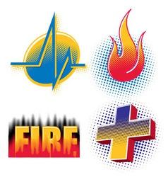 Halftone logos vector image