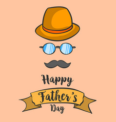 happy father day background hand draw vector image