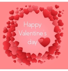 Happy valentines day card with hearts Valentine vector image