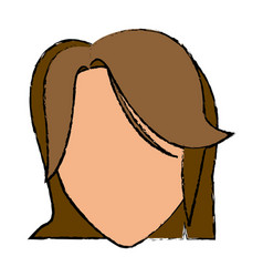 head female hairstyle modern character vector image