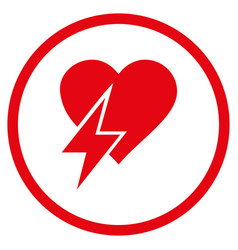 Heart shock rounded icon vector