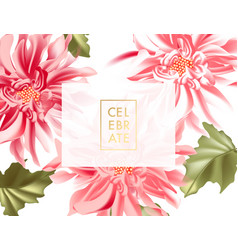 horizontal banner with garden dahlia sunflowers vector image