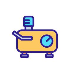 Horizontally extended compressor icon vector