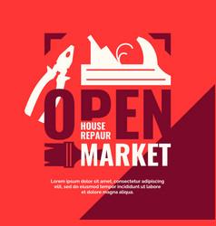 House repair open market vintage poster vector