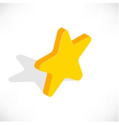 Isometric star icon vector