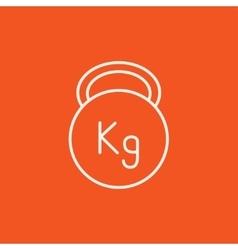 Kettlebell line icon vector image