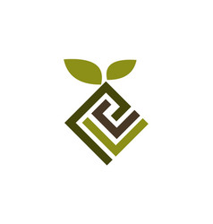 Landscape design logo design template vector